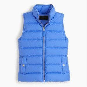 J. Crew Mountain Puffer Down Vest in Periwinkle